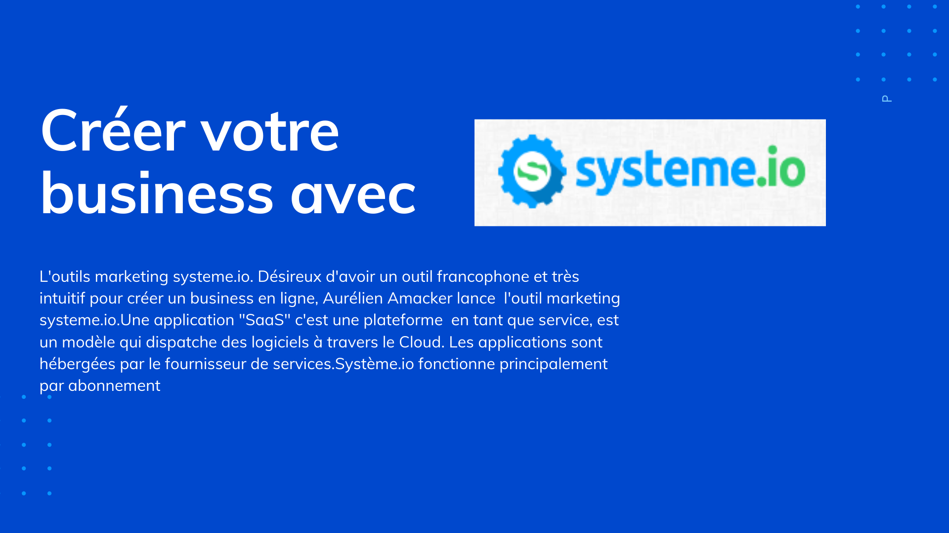 creer un business avec systeme.io